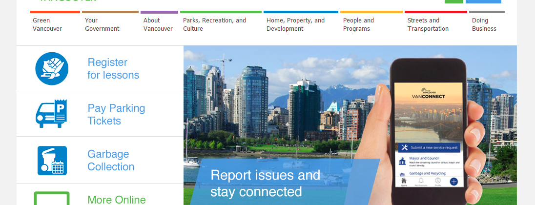 City of Vancouver Website Redesign